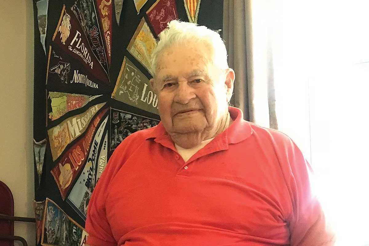 Photo of elderly male resident